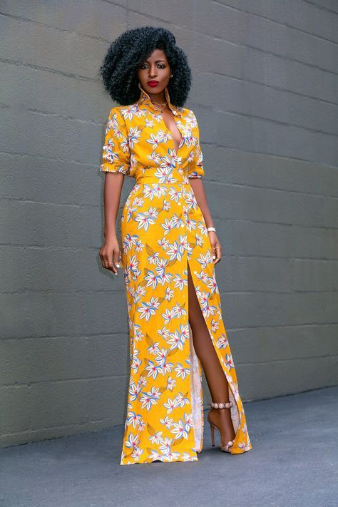 e1a92f5b630d Style Pantry | Printed Linen Maxi Shirt Dress | Outfit ideas in 2019 ...