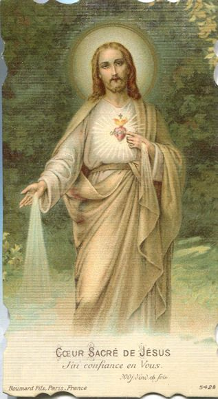 From wonderful 1883 piece on the story of the Sacred Heart devotion … http://corjesusacratissimum.org/2010/04/saint-margaret-mary-and-the-origins-of-the-cult-of-the-sacred-heart/