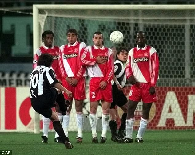His first goal in Turin was a spectacular 30-yard free-kick that beat keeper Fabien Barthez