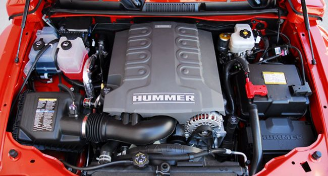 The engine of 2010 Hummer H3T