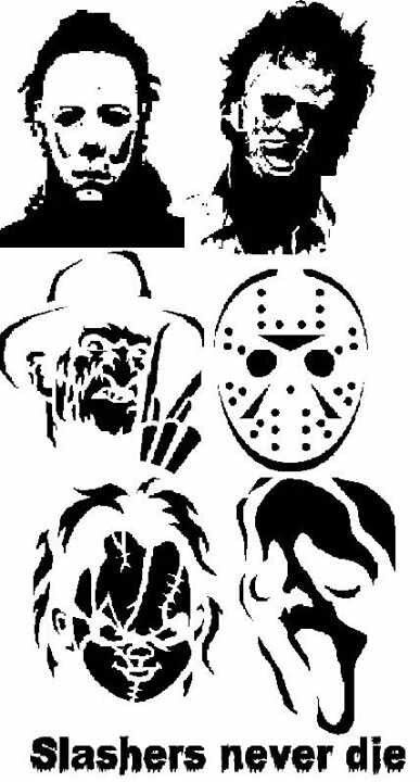 Horror Icons   Michael Myers, Leatherface, Freddy Krueger, Jason Voorhees, Chucky, and Ghostface