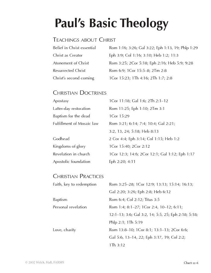 Charting the New Testament - BYU Studies