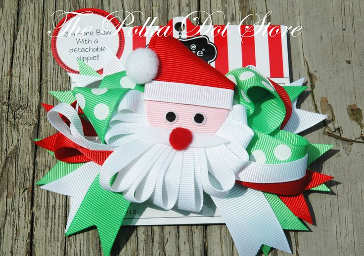 Santa 3 in 1 Hair Bow Set by Mud Pie