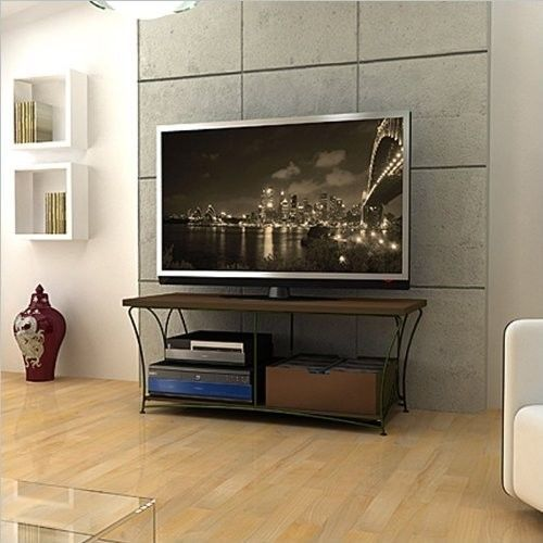 Black Mocha TV Stand Flat Screen 50 Inch Television Entertainment Center NEW 52…
