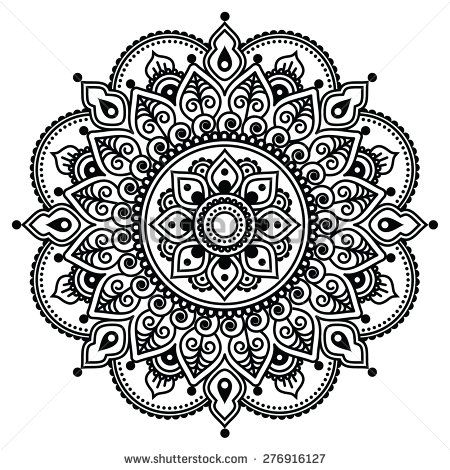 Henna Patterns on drawing circle pattern