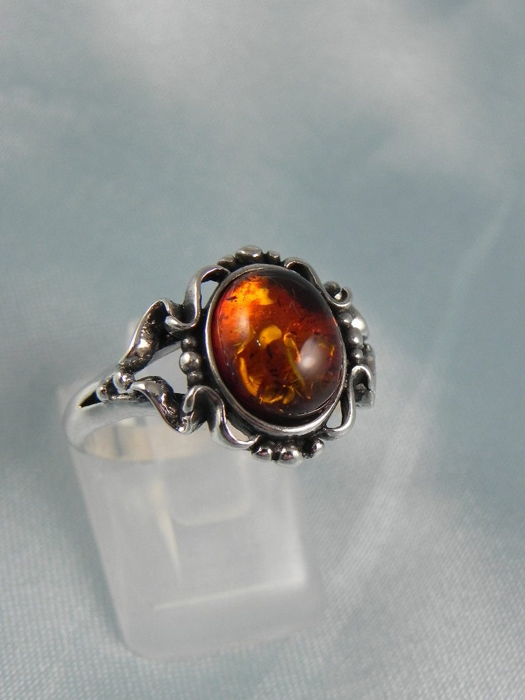 Sterling Baltic Amber Ring