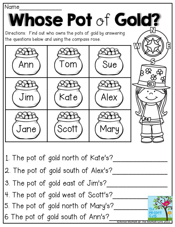 whose pot of gold practice directions using the compass rose first grade first grade. Black Bedroom Furniture Sets. Home Design Ideas