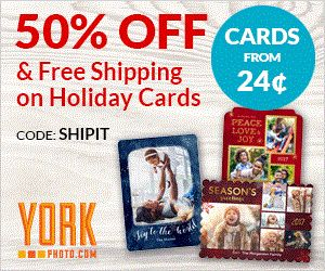 50% off and Free Shipping! The holiday season is not far away and it is time to start thinking about those you love :) Personally I love picture cards.