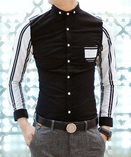 Trendy stripes linen shirt