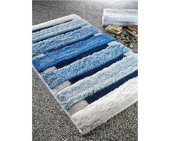 Set di 3 tappeti bagno in acrilico Selinus blu, max 100x60 cm