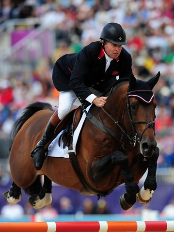 Nick Skelton of Great Britain riding Big Star competes in the 3rd Qualifier of Individual Jumpingcompleting with no jumping or time penalties
