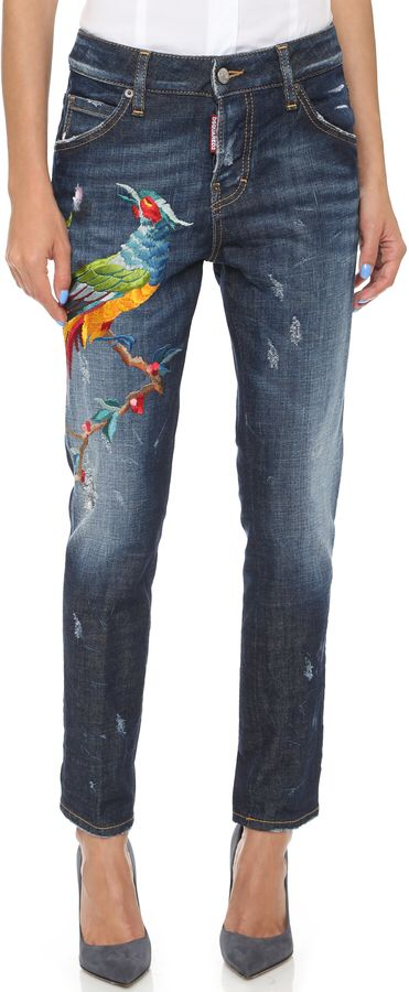I soooo want these Dsquared jeans