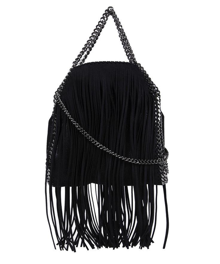 Falabella black fringed tiny tote bag Sale - Stella McCartney