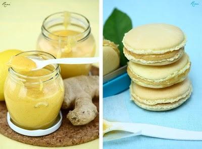 Citromos macaron gyömbéres lemon curddel