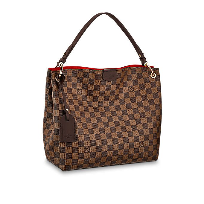 Graceful PM Toile Damier Ebène Femme Sacs à main   LOUIS VUITTON ... 94cb0b278e6