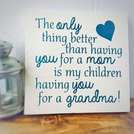 Wooden saying sign - Grandma sign - Grandma gift - wooden sign - wood decor - glitter grandma sign - nana sign - mothers day gift idea
