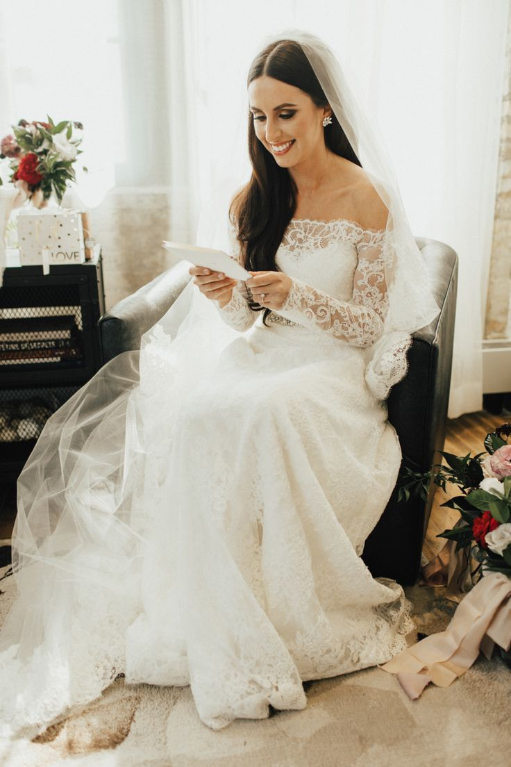 This Bride is Bringing Back Long Sleeves  //  Style Me Pretty