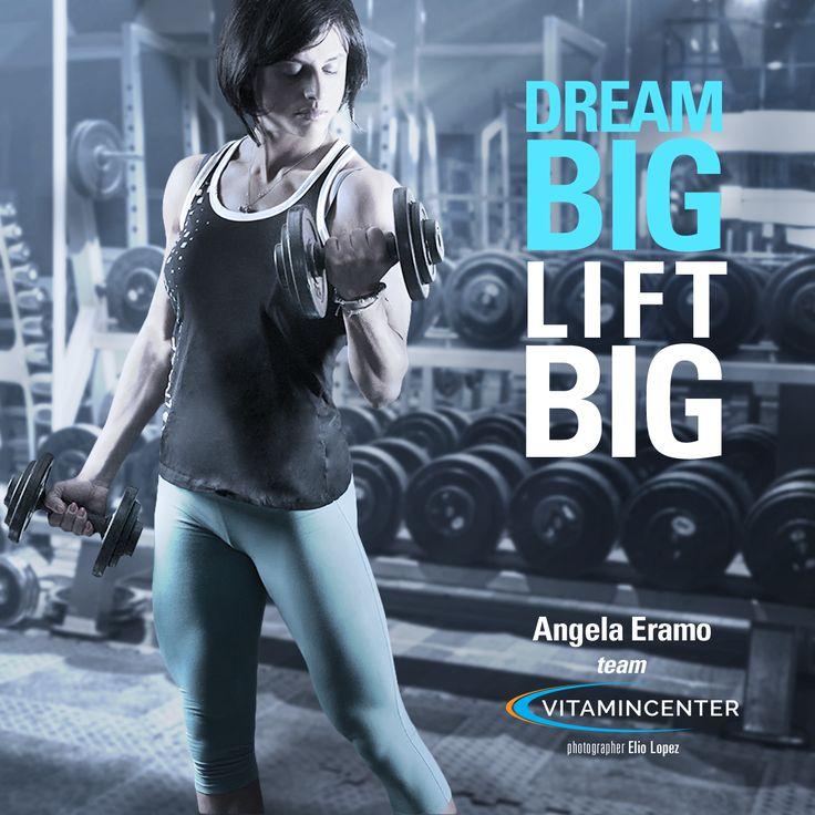 #dream BIG #lift BIG. #MotivationMonday www.vitamincenter.it
