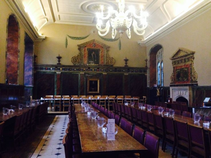 The dining hall at Trinity College