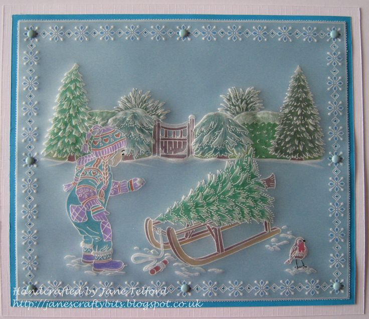 Samples for Barbara's December 2016 shows -(Jayne Nestorenko Winter scenes) by Jane Telford