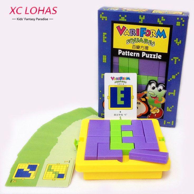 Creative Adult Puzzle Plastic Jigsaw Puzzles Classic Tangram IQ Brain Teaser Children Puzzle Cube Game  Educational Toys