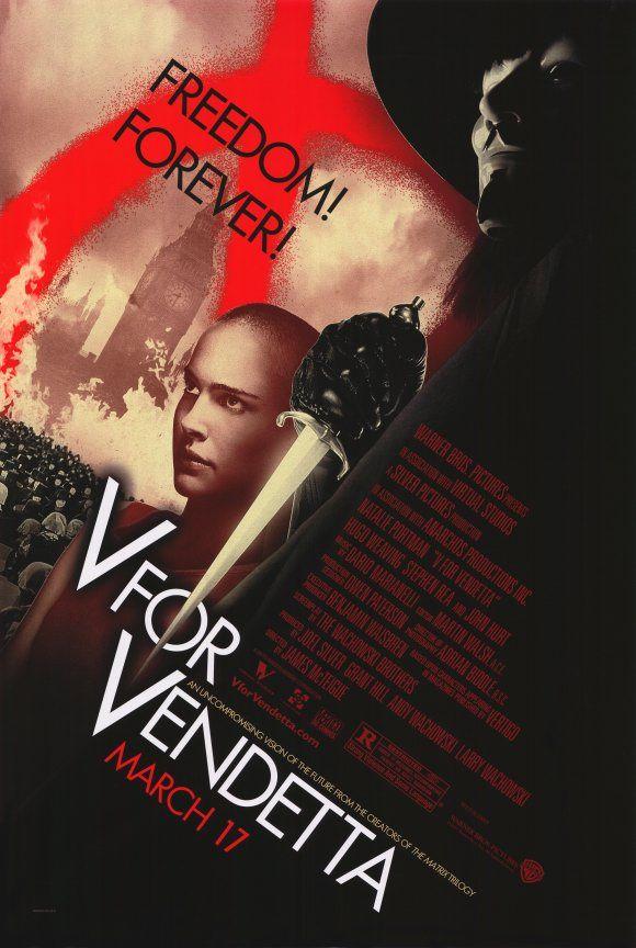 V for Vendetta movie poster B