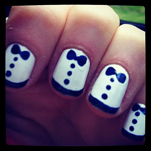 Tara - tuxedo nails has your name all over it!