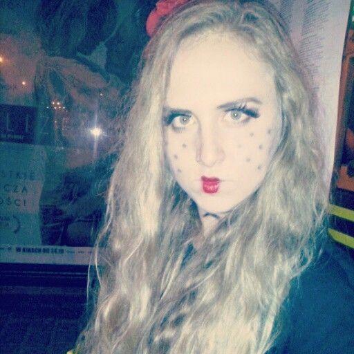 #halloween #makeup #doll #blonde
