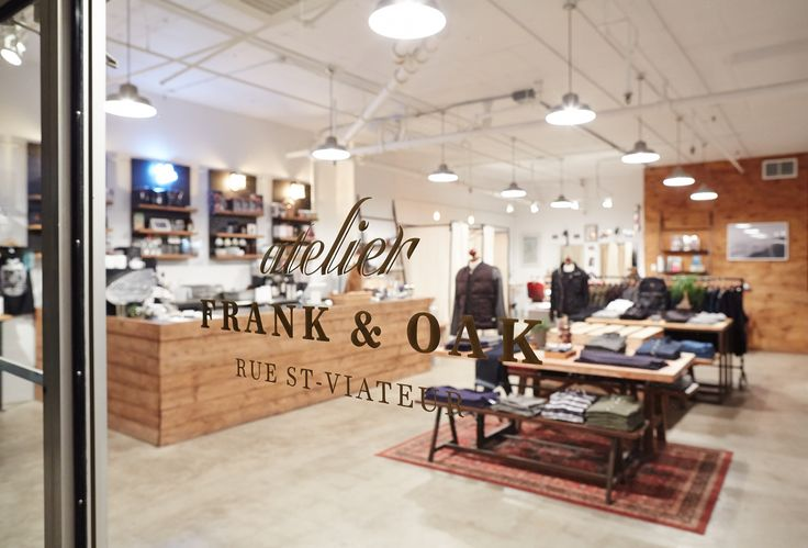 The Frank + Oak Atelier in the Mile-End, Montreal QC