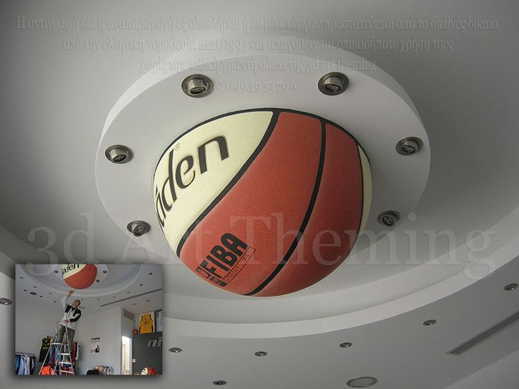 διακόσμηση σε οροφή καταστήματος