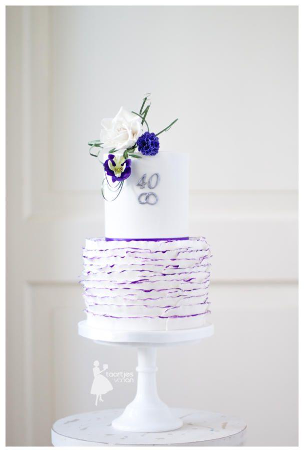 40 th anniversary weddingcake - Cake by Taartjes van An (Anneke)
