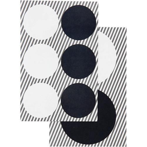 Självhäftande presentetiketter, runda, 4 ark Make & Create