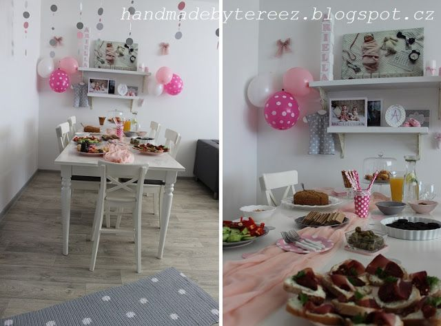 Lavande-Provence  Dots party, pink, white, grey, it¨s a girl!
