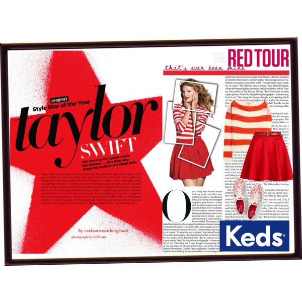 """""""Rock Out to Taylor Swift in Keds"""" by aninditaa on Polyvore"""