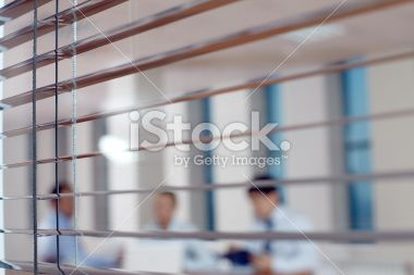 Peeping at business process Royalty Free Stock Photo