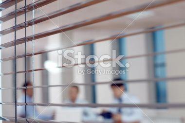 Peeping at business process Royalty Free Stock Photo