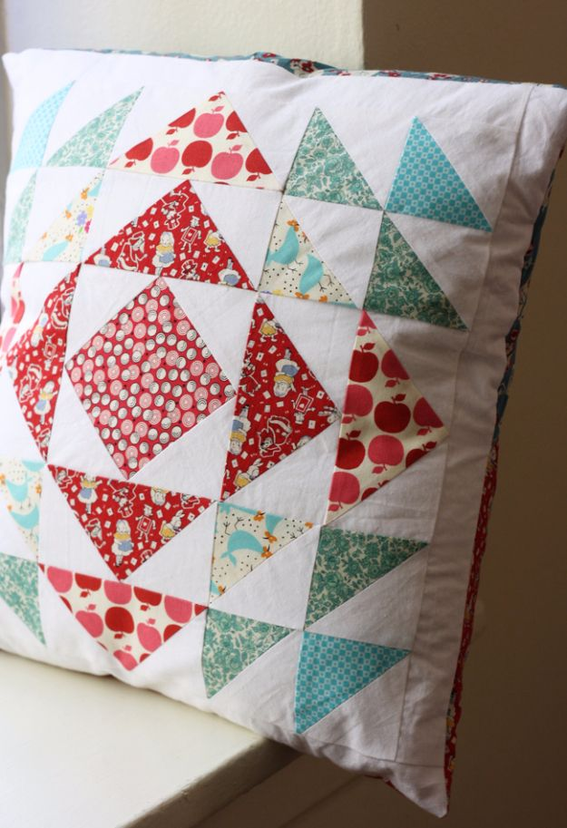 Best Quilting Projects for DIY Gifts - Herringbone Quilted Pillow - Things You Can Quilt and Sew for Friends, Family and Christmas Gift Ideas - Easy and Quick Quilting Patterns for Presents To Give At Holidays, Birthdays and Baby Gifts. Step by Step Tutorials and Instructions http://diyjoy.com/quilting-projects-diy-gifts