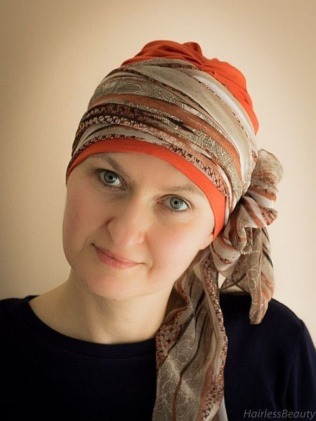 Tulip Copper | Scarve for cancer patients