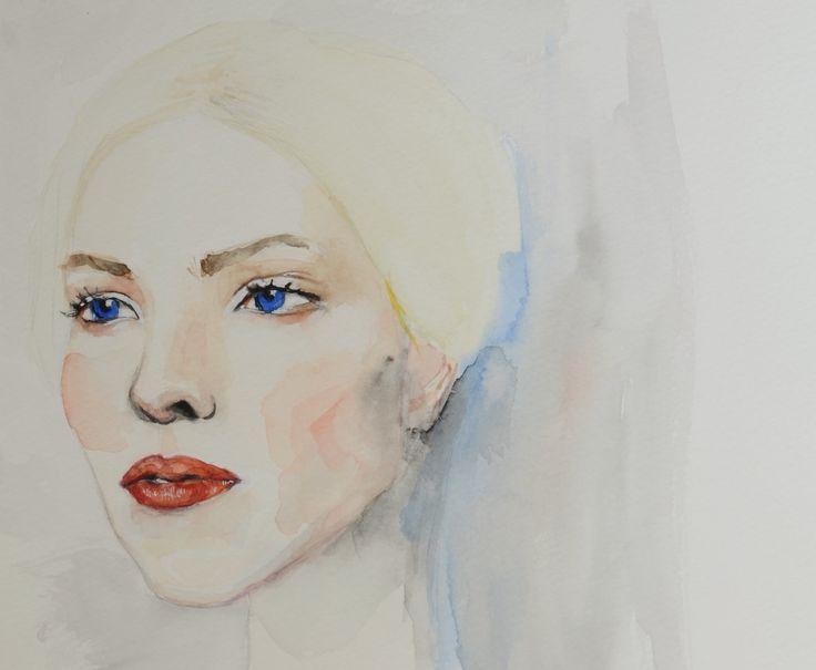 #watercolor #portrait #painting #art #woman