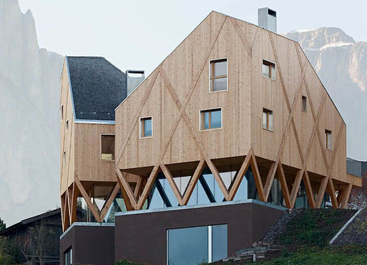 Timber artist's house and atelier imitates northern Italy's mountainous landscape | Inhabitat - Sustainable Design Innovation, Eco Architecture, Green Building