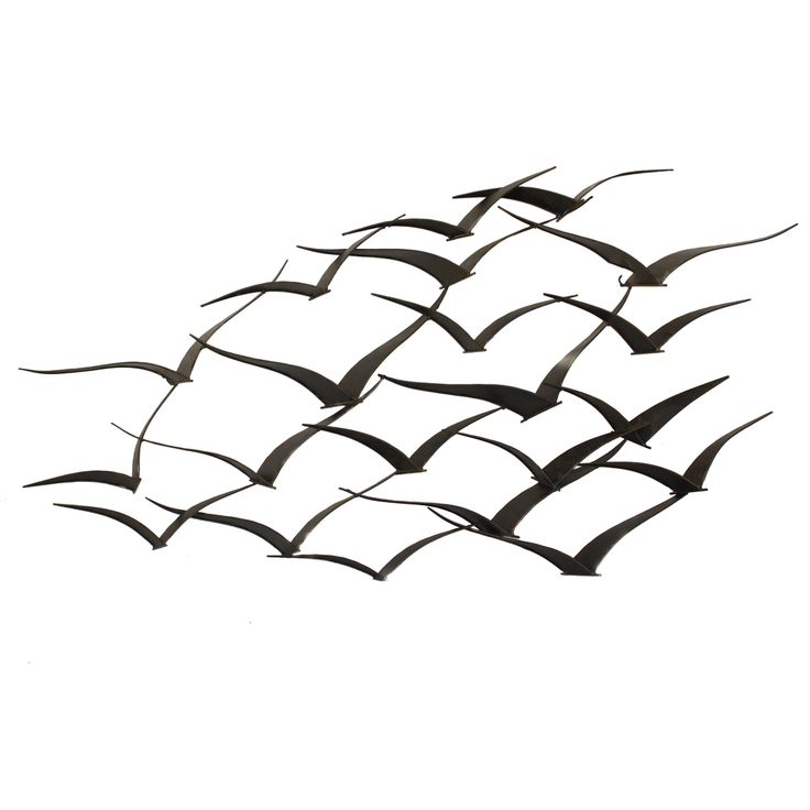 Handcrafted Flock of Metal Flying Birds Wall Art | Overstock.com Shopping - The Best Deals on Metal Art