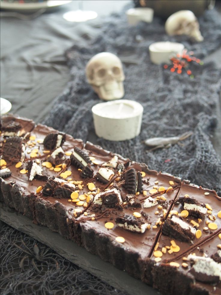 No bake Oreo cake, gluten free. #Halloween