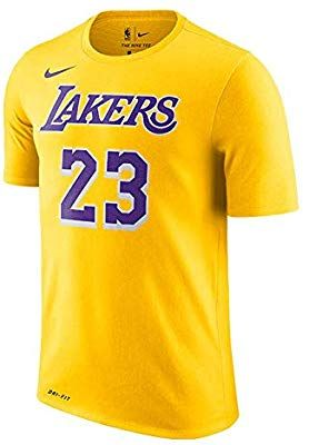 Amazon.com   NIKE Unisex Los Angeles Lakers Lebron James Icon Player T-Shirt c10fb66e9