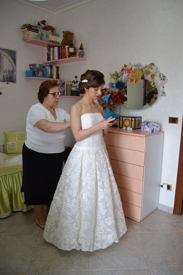 La sposa Antonietta con il suo abito firmato Cinzia Ferri!  www.cinziaferri.com