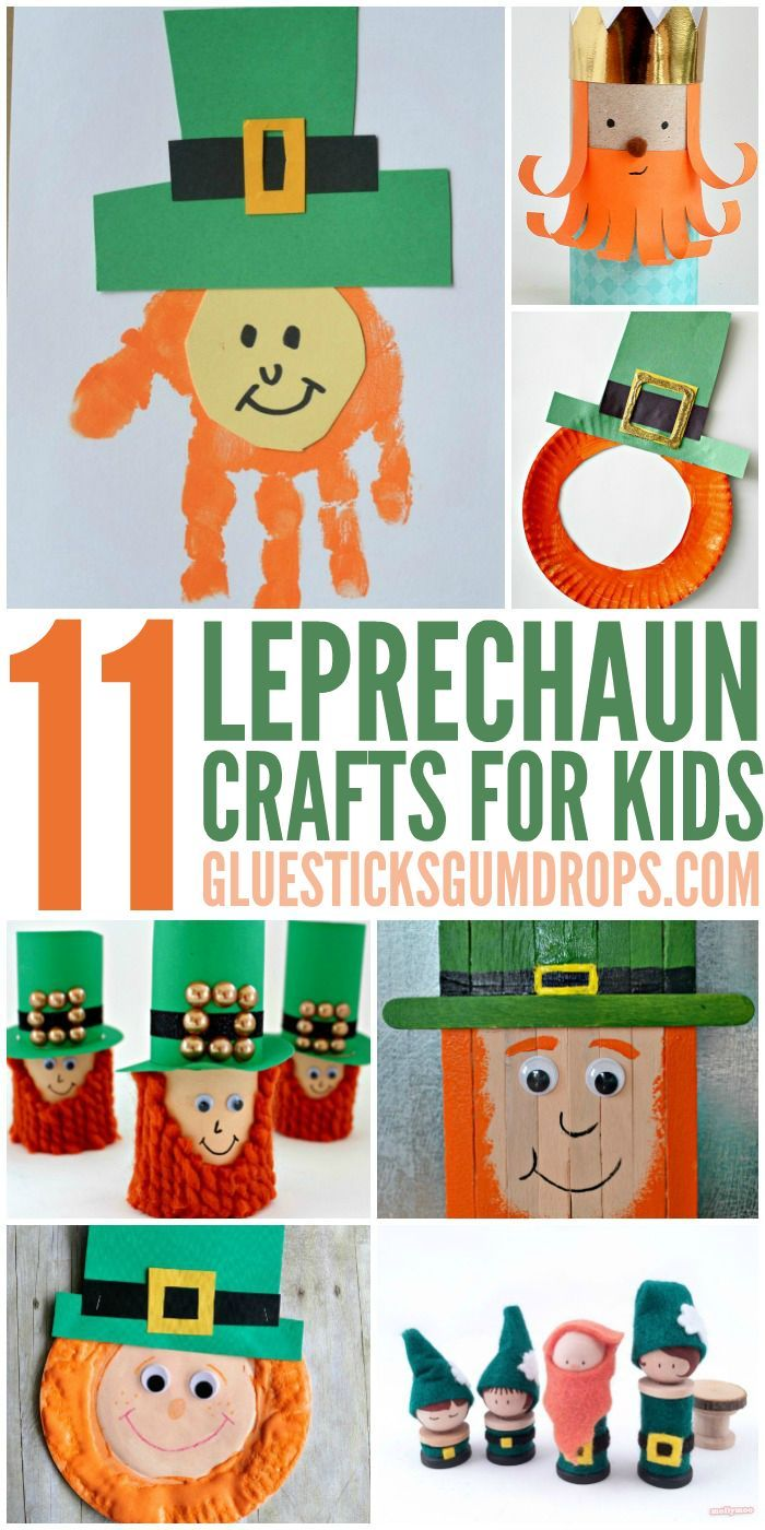 Celebrate St. Patrick's Day with these lucky Leprechaun Crafts for Kids.
