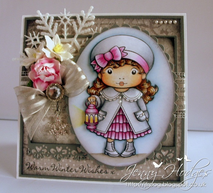 Etsy Transaction - La La Land Christmas Lantern Marci 3D Handmade Card
