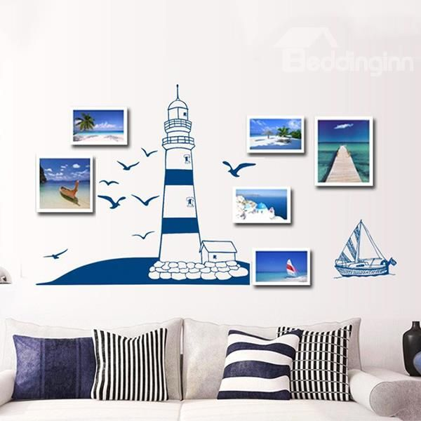 Beddinginn; Mediterranean Style Lighthouse and Seagulls Wall Sticker: http://www.beddinginn.com/product/Fantastic-Mediterranean-Style-Lighthouse-And-Seagulls-Wall-Sticker-11410799.html; Check here: http://www.beddinginn.com/Custom-Wall-Art-103766/
