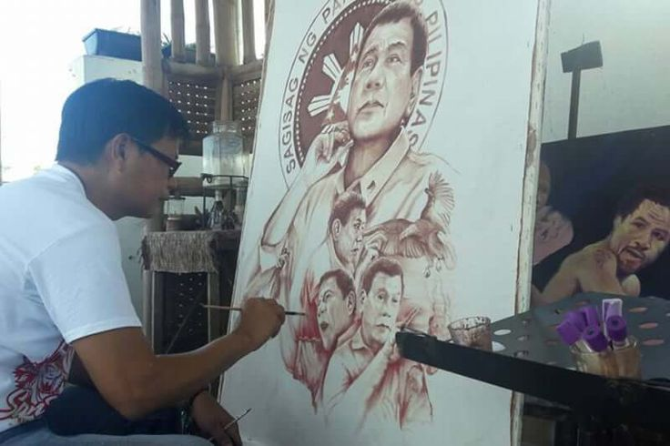 Blood and Sweat for Duterte's Painting - https://pinoyonlinetv.com/abs-cbn-tfc-usa-balita-at-tsismis-blog/blood-and-sweat-for-dutertes-painting/
