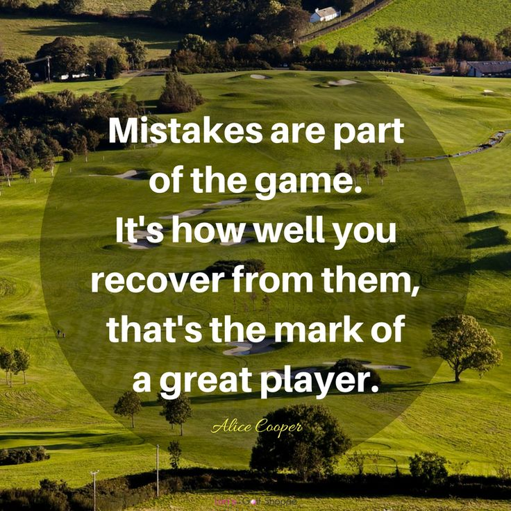 Such a great golf inspiration from Alice Cooper! Find more Golf Quotes, Lessons, and Tips here at #lorisgolfshoppe