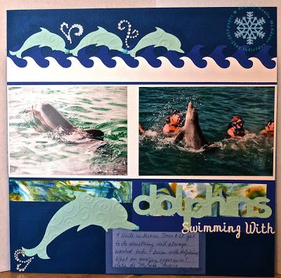 paper & ICE: Swimming With Dolphins Scrapbook Page (CQC178)